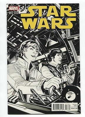 2015 Marvel Star Wars #17 Terry Dodson 1:100 Sketch Variant Cover Very Fine- D3