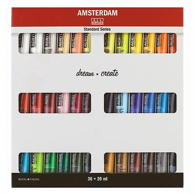 Artists acrylic paint tube set 20ml 24 or 36 colours Amsterdam