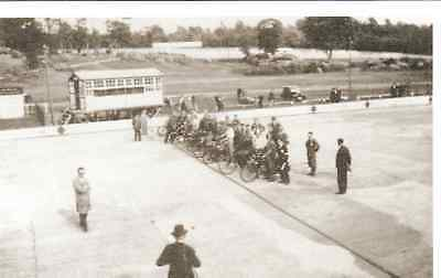 Motorcycle race at Brooklands 1930 - reproduction post card