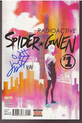 Spider-Gwen #1 Signed With Head Sketch Jason Latour & Robi Rodriguez #2323
