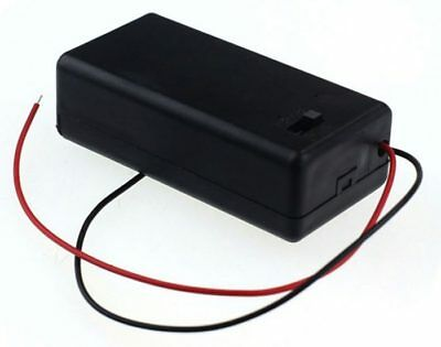 9v Enclosed Battery Box Holder with wires and ON/OFF Power Switch PP3