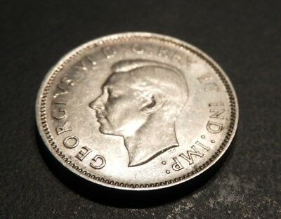1940 Canada 5 Cent Nickel Beaver Coin