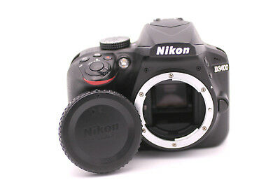 Nikon D D3400 24.2MP Digital SLR Camera - Black (Body Only)
