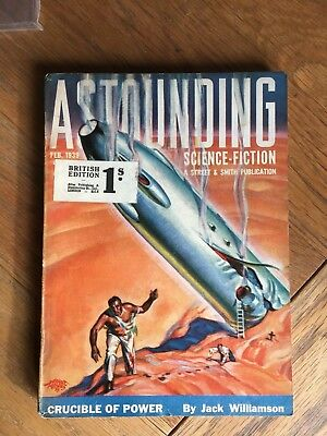Astounding Science-Fiction - Feb. 1939 vintage US pulp magazine Jack Williamson