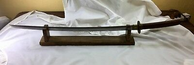 Old antique Japanese Samurai sword with stand
