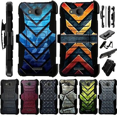 FOR ALCATEL TETRA AT&T Cricket Holster Phone Case Kick Stand Cover Luxguard  I9