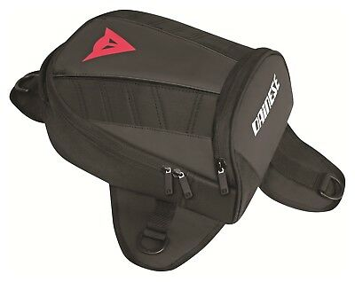 Dainese D-Tanker Magnetic Motorcycle Mini Tank Bag Stealth Black (1980068-W01-N)