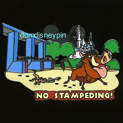 Disney Pin Wild About Safety Pumbaa & Timon *No Stampeding!* (Trade Only)!