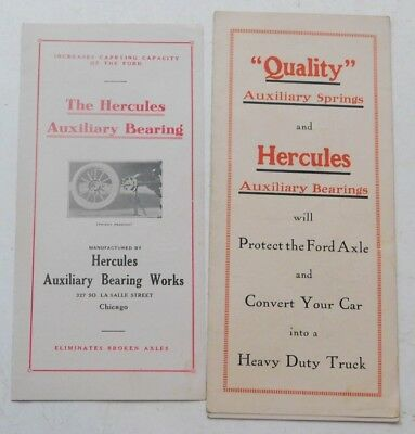 1910's Hercules Auxiliary Springs and Bearings for Ford Cars Brochures