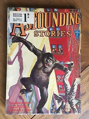 Astounding Stories - Jan.1932 vintage US pulp magazine - 'King Kong' cover !