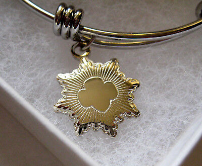GORGEOUS Girl Scout SILVER AWARD BANGLE BRACELET Charm Jewelry Leader GIFT Prize