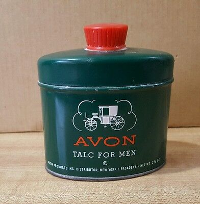 VINTAGE  AVON 1940's / 50's   TALC  FOR  MEN  CONTAINER with TALC