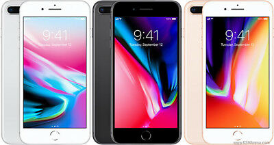 Apple iPhone 8 Plus AT&T Wireless Smartphone Gold Silver Space Gray 256GB
