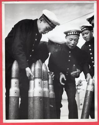 1948 Nationalist Chinese Naval Gunnery Training Tsingtao China 8x10 News Photo