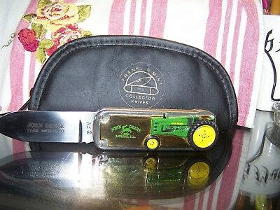 Franklin Mint John Deere 1948 Model B Tractor Folding Knife Collectibles