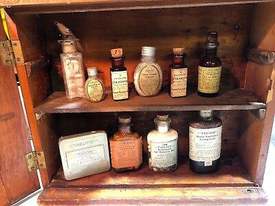 Vintage Pharmaceutical Medicine Apothecary Bottles w/corks 20's 1930s Lot