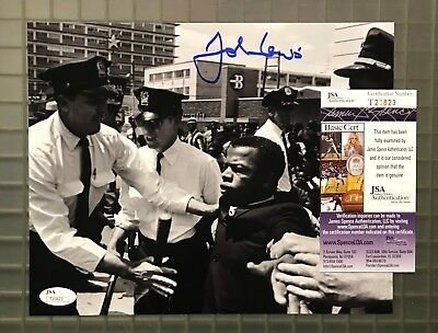 John Lewis Signed 8x10 Photo Autographed JSA COA CIVIL RIGHTS LEADER Auction #2