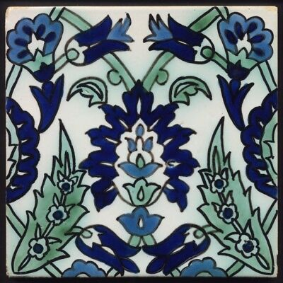 TH3490 Persian Style Hand Painted Tile Early 20th Century