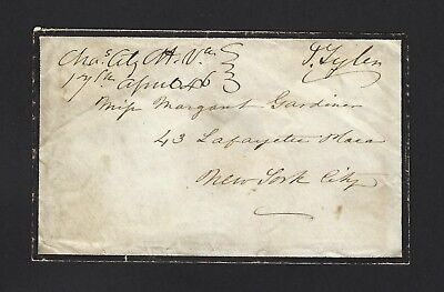 John Tyler Signed Free Frank from 1846, Very Rare AUTO 10th President JSA LOA