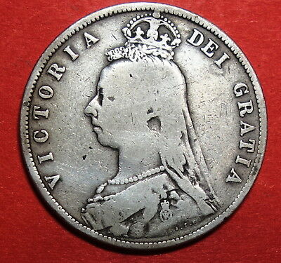 Great Britain Halfcrown 1888. Victoria  . 0.925 Silver.