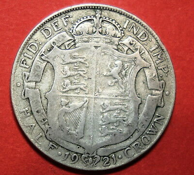 Great Britain Halfcrown 1921 . 0.500 Silver.