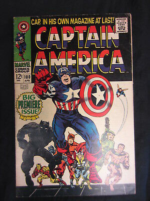CAPTAIN AMERICA #100. MARVEL COMICS. 1st SOLO SERIES! LEE / KIRBY. LOOK! NO RSV!