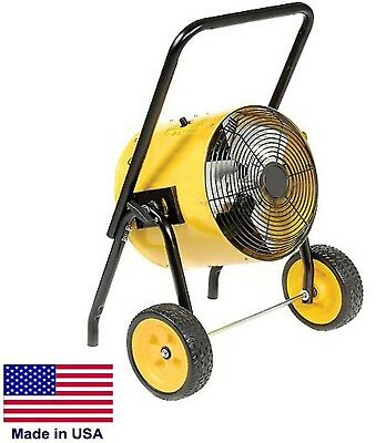 Portable Electric Heater - 51,195 BTU - 2,000 Sq Ft - 800 CFM - 480 Volts - 3 Ph
