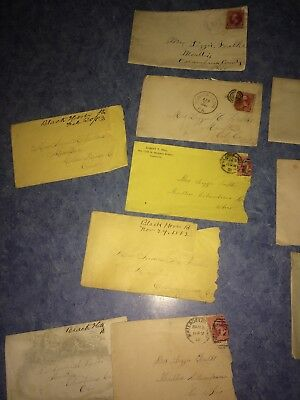 Lot Of 19 Antique Envelopes Dates Ranging From 1882-1935, Some Have 2&3¢ Stamps