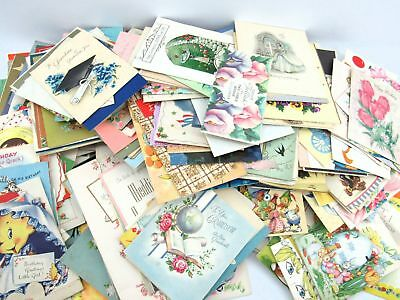 Vintage Lot of over 250 Miscellaneous Greeting Cards 1940-1950