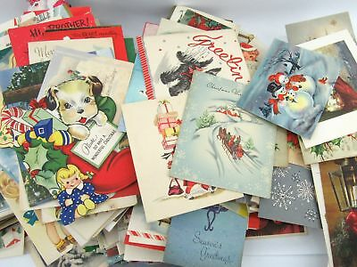 Vintage Lot of Over 450 Christmas Greeting Cards 1940-1950