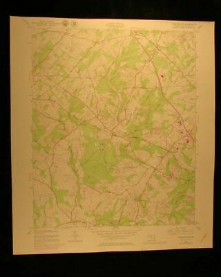 Germantown Maryland 1979 vintage USGS Topographical chart