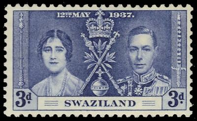 SWAZILAND 26 (SG27) - King George VI Coronation (pa16951)