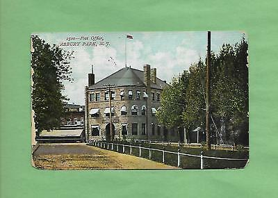 POST OFFICE In ASBURY PARK, NY On Vintage 1908 Postcard