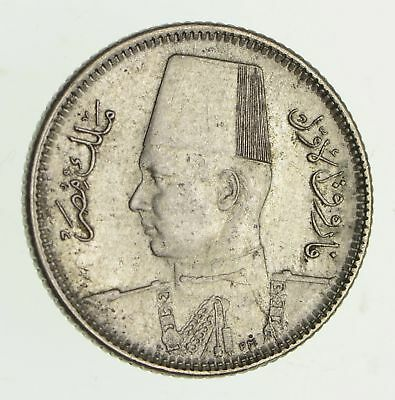 Roughly Size of Dime - 1937 Egypt 2 Piastres - World Silver Coin *432