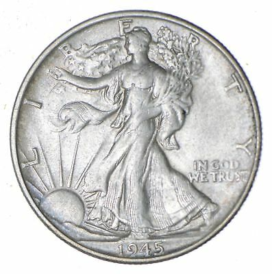 Choice AU Unc 1945-S Walking Liberty Half Dollar *330