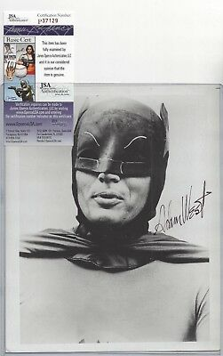Adam West Batman Television Actor Autographed 8x10 Photo JSA COA Close Up