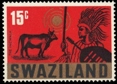 "SWAZILAND 136 (SG134) - Incwala ""Feast of the First Fruits"" (pa93610)"