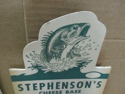 CATFISH Cheese Bait OLD COUNTER DISPLAY BOX Indian Lake Ohio RUSSELL'S POINT OH