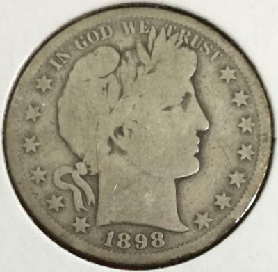 1908S US Barber SILVER Half Dollar! Very Good! Old US Coin!