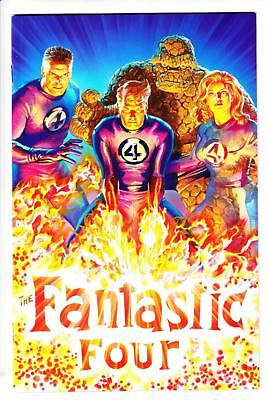 Fantastic Four #1 1/200 Alex Ross Virgin Variant 2018 Thing Human Torch Copy B