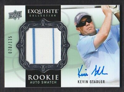 2014 Exquisite Collection Golf #69 Kevin Stadler Maglia Rc 078/175 Auto