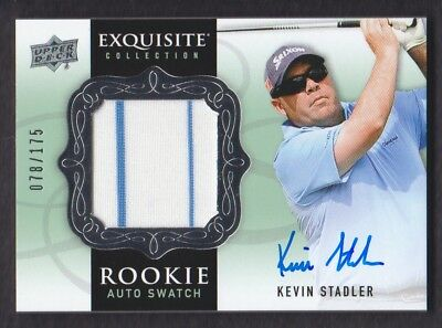 2014 Exquisite Collection Golf #69 Kevin Stadler Shirt Rc 078/175 Auto