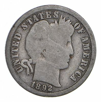 First Year - 1892-O Barber Silver Dime - 90% Silver - New Orleans Minted *947