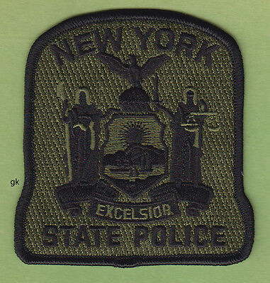 NEW YORK STATE POLICE SUBDUED SHOULDER PATCH  (Green)