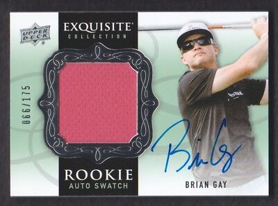 2014 Exquisite Collection Golf #76 Brian Gay Hemd Rc 066/175 Auto
