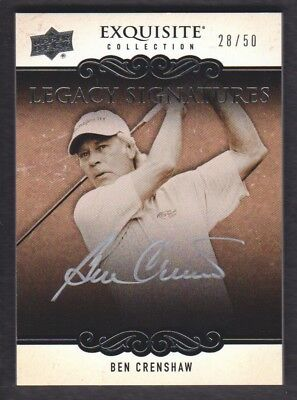 2014 Exquisite Collection Golf Vermächtnis Autogramme # Ls-Bc Ben Crenshaw / 50