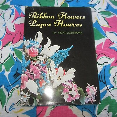 Japanese Ribbon Paper Flower Making book w Full size patterns French Millinery