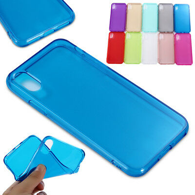 For iPhone XS XR Max Ultra Thin Clear Soft TPU Silicone Back Case Cover Colorful
