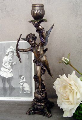 Vintage Candlesticks in Baroque Style Cupid Sculpture Candle Holder Figure New