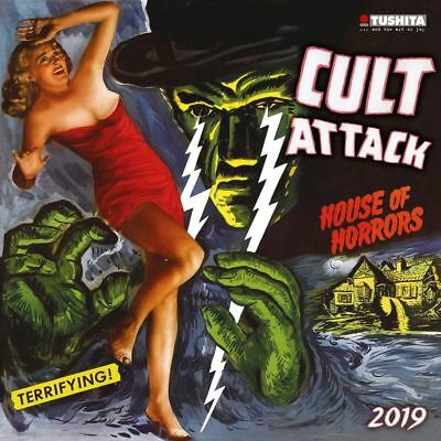 2019 Cult Attack Wall Calendar, Classic Movies by Tushita Publishing